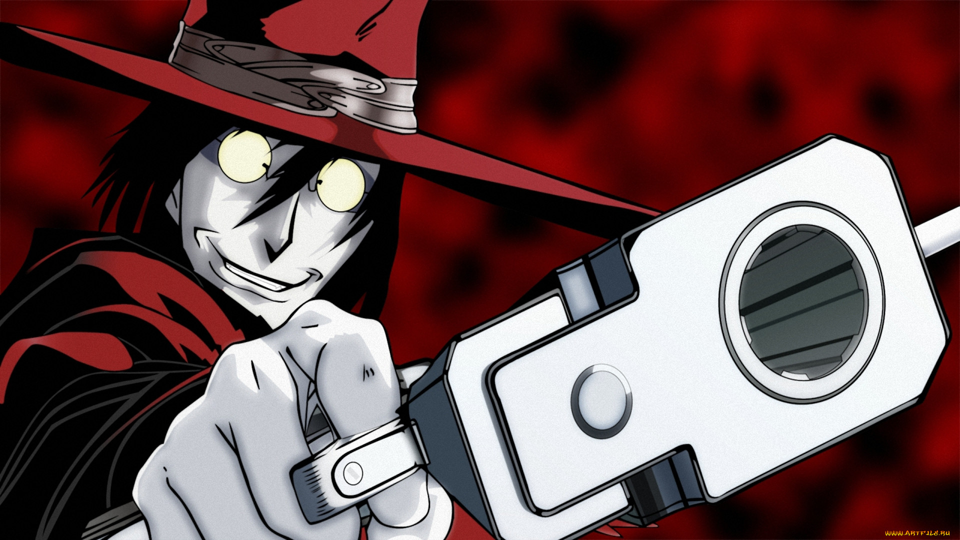 аниме, hellsing, вампир, dracula, шакал, оружие, дракула, алукард, vampire, alucard